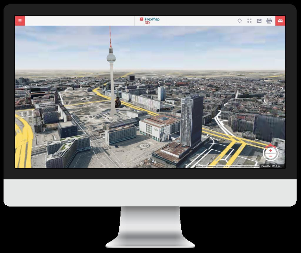 PlexMap Apps | 3D WebGIS | PlexMap 3D | 3D-Stadtmodelle