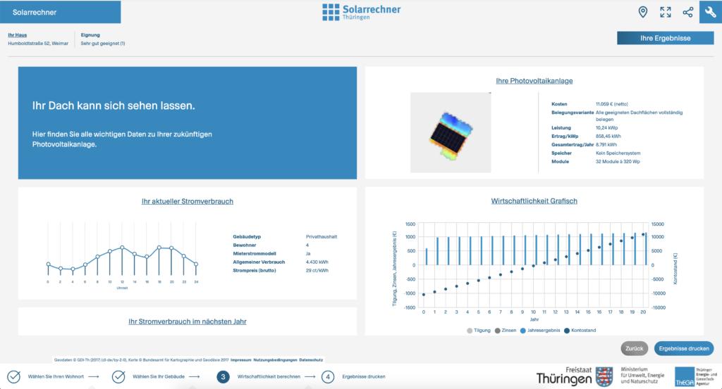 Der neue Solarrechner Thüringen (www.solarrechner-thueringen.de).